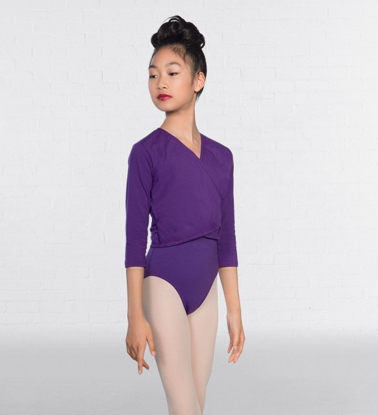 Picture of Purple crossover cardigan