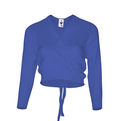 Picture of Royal Blue crossover cardigan